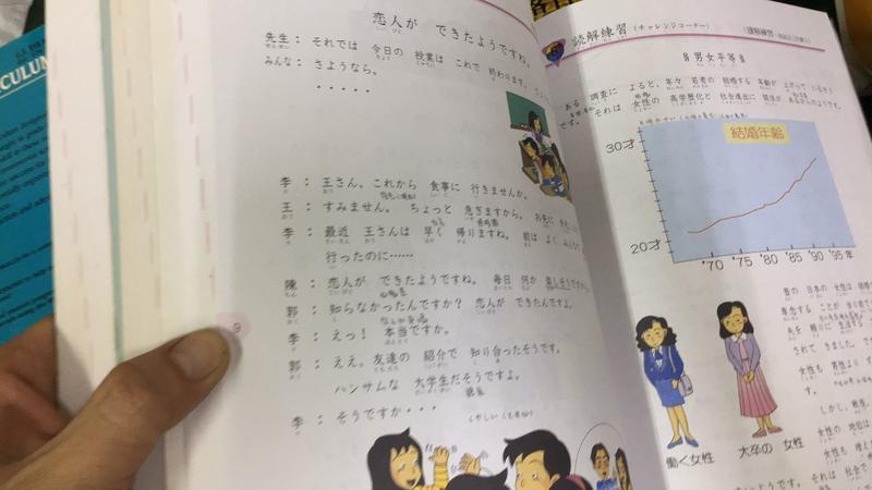 地球村日本語 入門會話 I II 基礎會話 II》高岡幹男 地球村  部分鉛筆劃記 U95