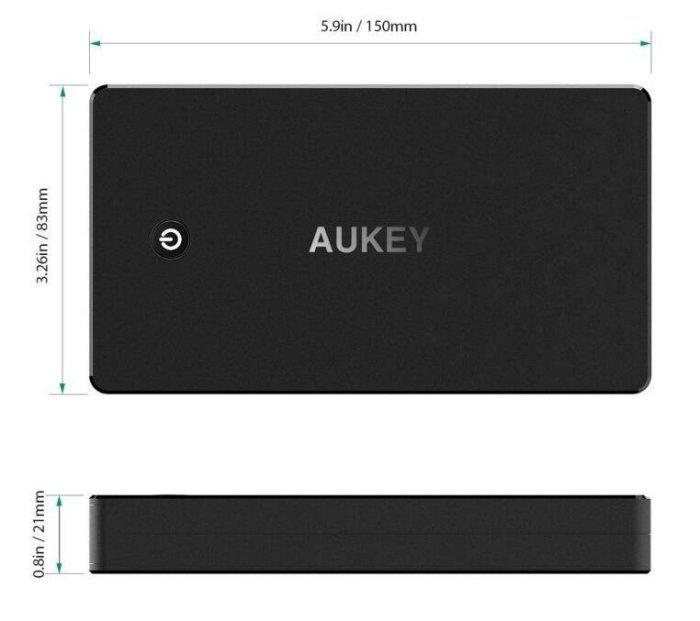 原廠正品AUKEY PB-T10 20000mAh QC 3.0快充20000毫安培培全能充移動電源適用於蘋果小米等手機