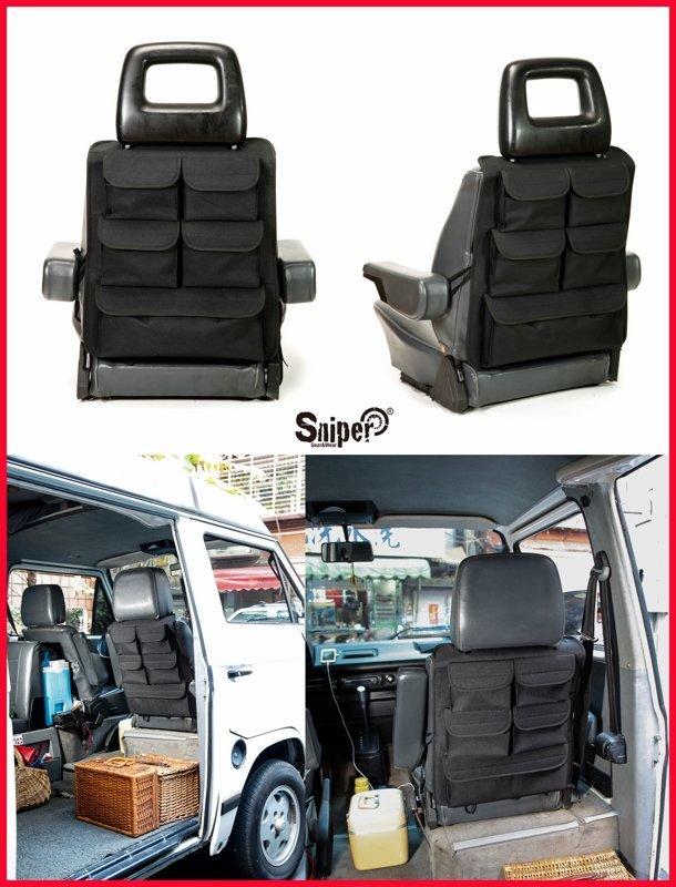 VW T3 專用 Sniper 美國狙擊者 露營車 椅背收納袋 VW T5 T4掀頂 multivan 數量有限!