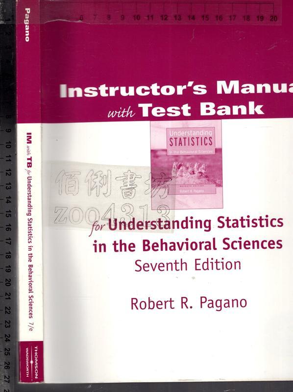 佰俐O《Instructor's Manual with Test Bank for Understanding~》
