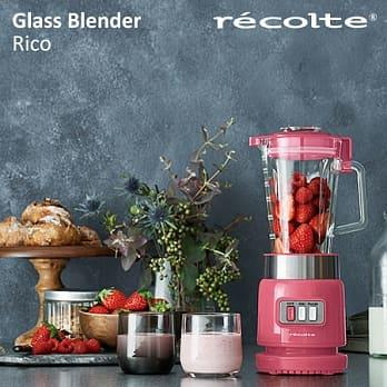 現貨+全新~recolte日本麗克特Glass Blender Rico耐熱果汁機 蜜糖粉 K-BD1-SP 保固一年