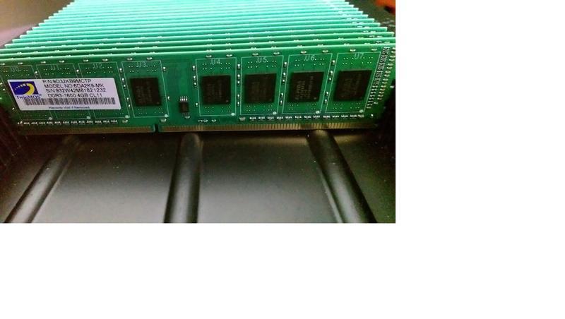 【賣可小舖】勤茂  全新  DDR3-1600 單面4G 299元/ 雙面 8GB 每支799元   桌機記憶體
