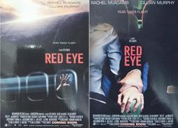 C電影酷卡明信片 赤眼玄機 Red Eye(一套2款)瑞秋麥亞當斯 席尼墨菲