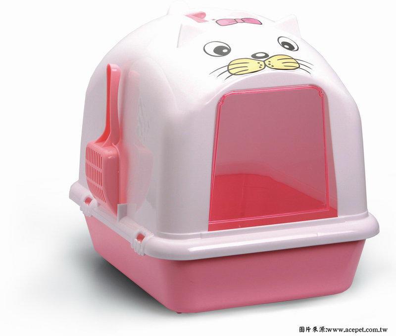 【綠海生活】愛思沛 Acepet 粉紅/藍色/紫色 全罩式便盆 便盆 貓便盆 貓砂盆  ( 870 )