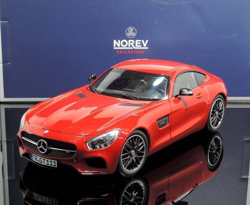 【MASH-2館】[現貨瘋狂價] Norev 1/18 Mercedes-Benz AMG GT S (C190) 紅