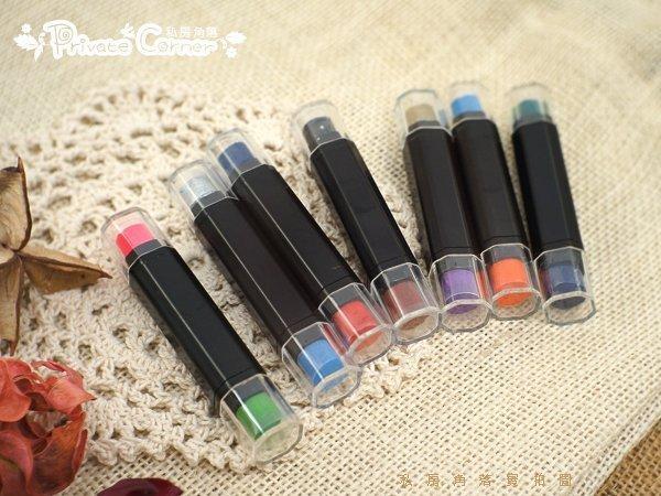 ◎私房角落【A-BDD0007】新款塗抹式油性防水雙頭印泥筆[7色可挑]彩色雙色韓國Funnyman