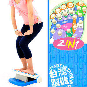 自拍網◎台灣製造 足部按摩拉筋板P260-730M(腳底按摩器按摩墊.多角度易筋板足筋板.平衡板美腿機.多功能健身板)