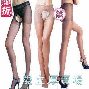 愛立厚賣場-透視性感內衣褲爆款小編主推免脫鏤空2兩面開襠超薄包芯絲連褲絲襪單面開檔
