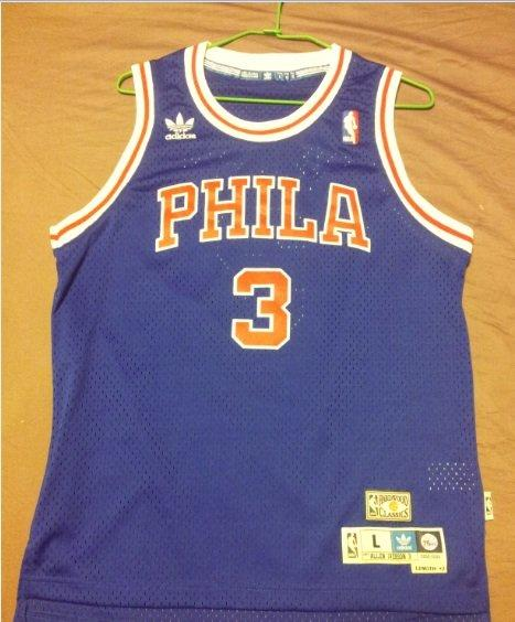 low priced 41c01 e78cf Allen Iverson Philadelphia 76ers Youth Retired Player Swingman Throwback  Jersey 戰神AI 復古球衣 青年版L
