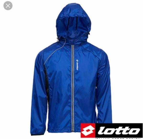 北台灣大聯盟 義大利第一品牌 LOTTO 男/女款極輕量防潑水慢跑防風外套 1106-藍 超低質購價 590元