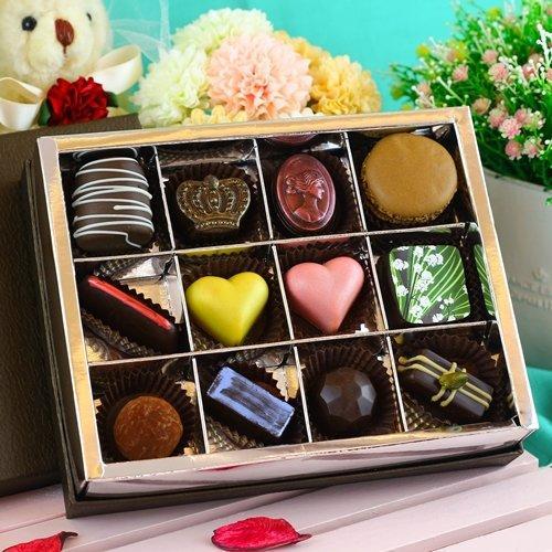 JOYCE巧克力工房-情人綜合手工巧克力12顆入禮盒【手製巧克力】