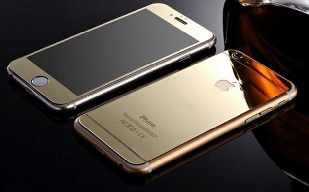 XS 電鍍滿版鏡面鋼化玻璃螢幕保護貼 APPLE I PHONE 6 / I PHONE 6S 三色 黑、金、玫瑰金
