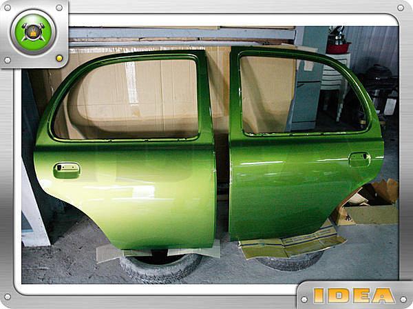 泰山美研社372 日本MARCH BOX 全車烤漆 內外拆烤 門板完工照