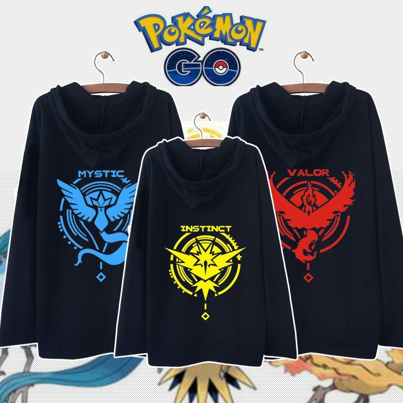 >西洋牡丹<*優惠升級*(獨家定制  )Pokemon Go口袋寵物小精靈長袖外套連帽男女衛衣