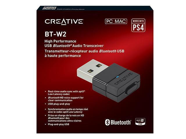 【二手商品】CREATIVE BT-W2 藍牙音效發射器 接收器 藍芽 PC PS4 SWITCH NS MAC 台中