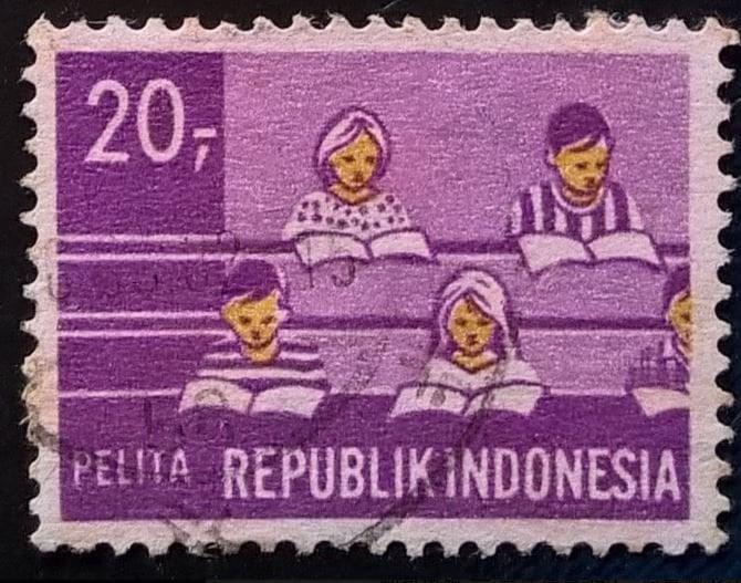 【AntStamp螞蟻郵票站】印度尼西亞 1969 五年發展計劃-教育業 1枚 #9566