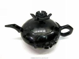 珍珠林~絕品好件~ 經典純手工雕製~ A貨新疆墨玉梅花壺.立體.鮮活