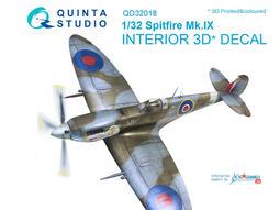 ㊣ Quinta Studio 1/32 英軍噴火式戰機 Spitfire Tamiya 3D立體浮雕水貼QD32018