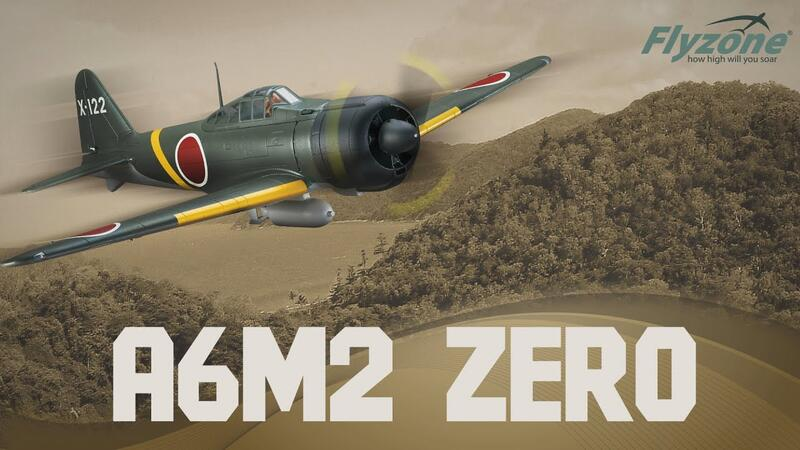 (飛恩航模) 美國 FLY ZONE 1145mm  A6M2 ZERO 零戰 PNP版 二戰名機 / 可投彈