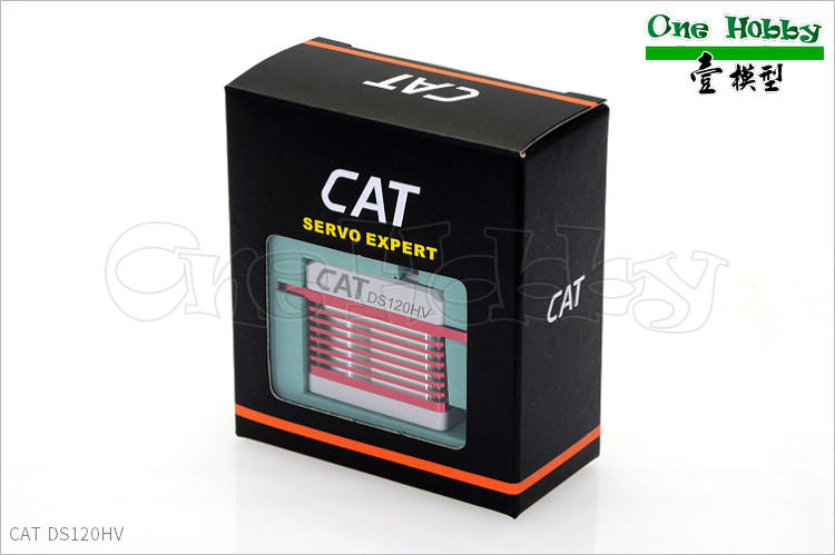 《One-Hobby》CAT DS120HV,S系列進化型。扭力12公斤、金屬齒輪/外殼、高電壓、無核心馬達