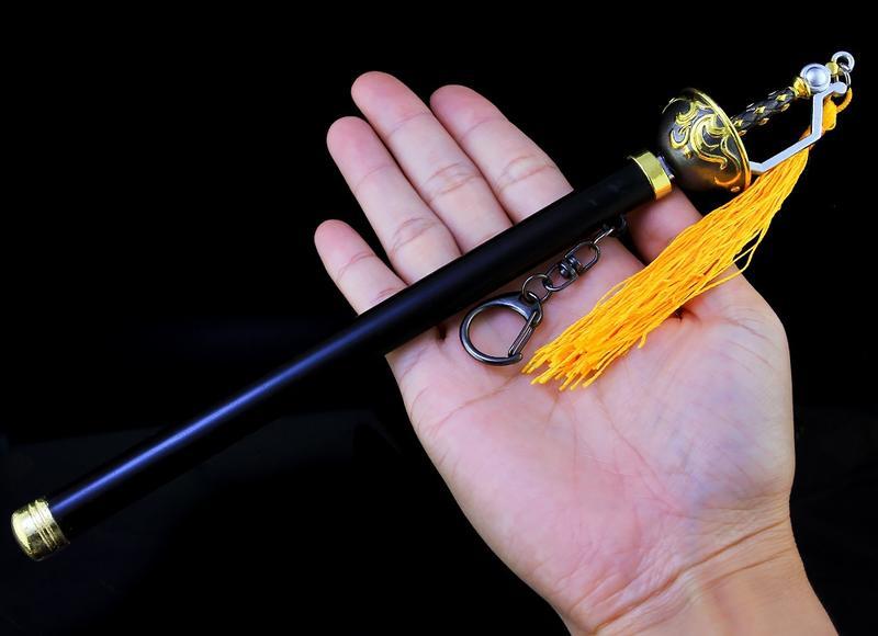 【現貨 - 送刀架】『 銀花劍 』23cm 刀 劍 槍 武器 兵器 模型 no.9774