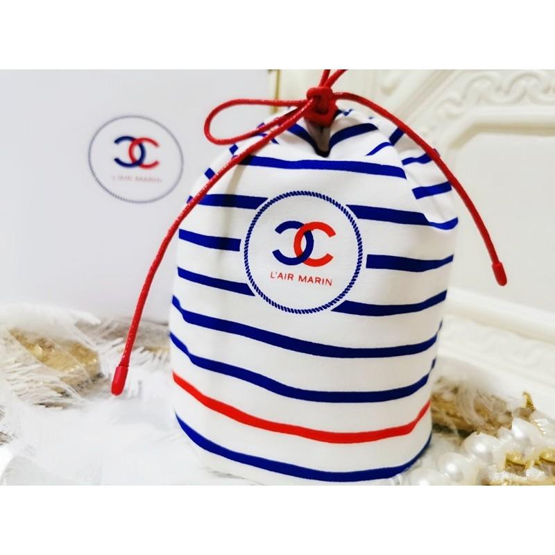 香 櫃檯會員禮品  海軍風 大容量束口袋/抽繩袋/化妝品收納袋