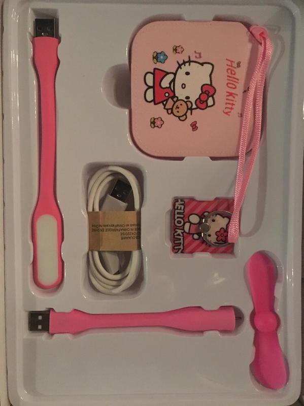 Hello Kitty 行動電源禮盒禮品 凱蒂貓充電寶 8000毫安 可愛 安卓蘋果通用 移動電源 女生最愛生日禮物