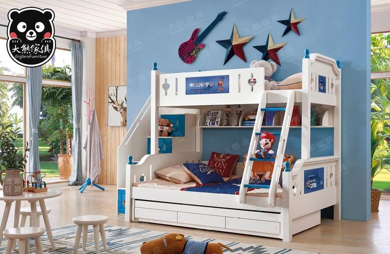 【大熊傢俱】Bb 2012 兒童床 組合床 子母床  雙層床  青年床 多功能置物床 三抽托床 梯櫃