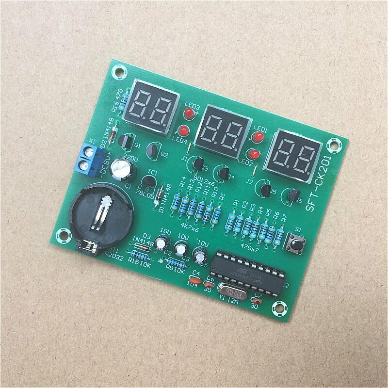 單片機AT89C2051六位數字鐘套件 6位LED數碼管顯示屏 電子DIY散件