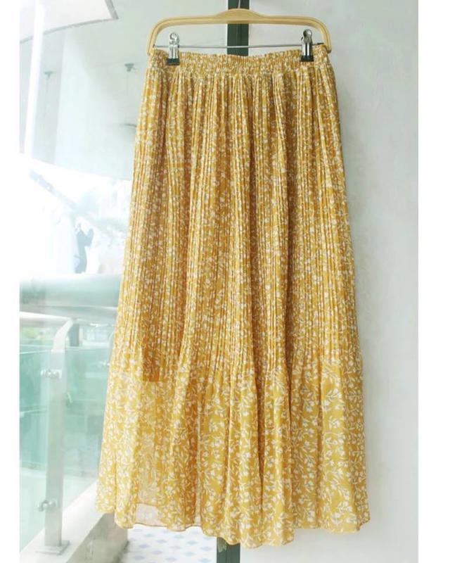 全新,黃色膝上裙