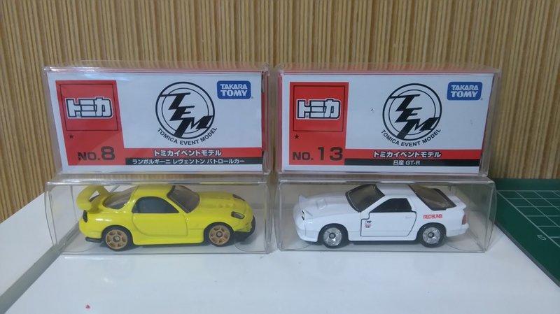 【J&L 模型車坊】全新,100%現貨~ 一般小膠盒-適用TOMICA,風火輪,KYOSHO系列小車(加厚版)