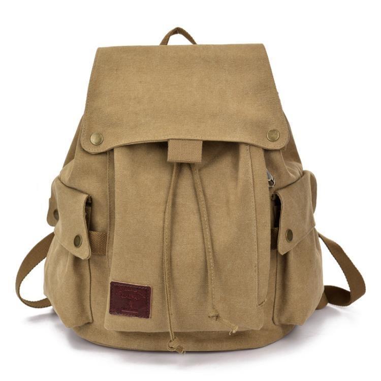 帆布後背包女復古男休閒包旅行背包正韓中學生書包潮女包