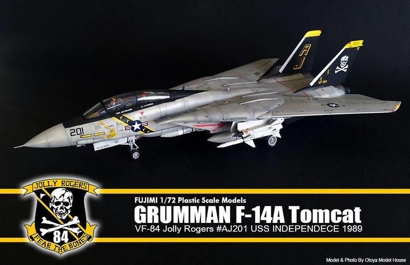 ~Otoya模型工坊~ FUJIMI 1/72 F-14A VF-84 經典海盜中隊 代工