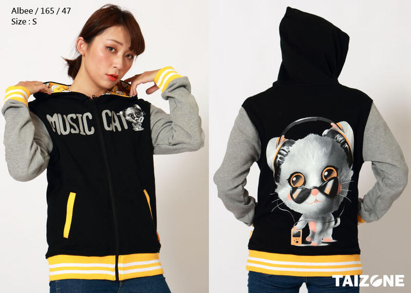 Music Cat / 音樂貓棒球外套