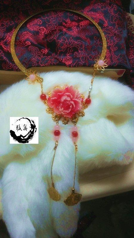 【狐窩】【免運費】古風飾品 古裝頭飾 古風項鍊 瓔珞項鍊 古典髮簪步搖 純手工發梳發插 漢服配飾
