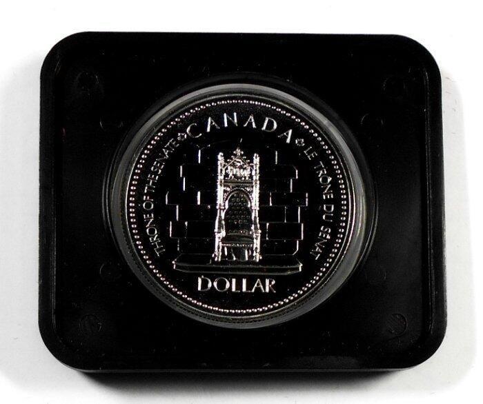 HC071 加拿大1952-1977年 登基加冕週年DOLLAR銀幣 盒裝 重約23.3g