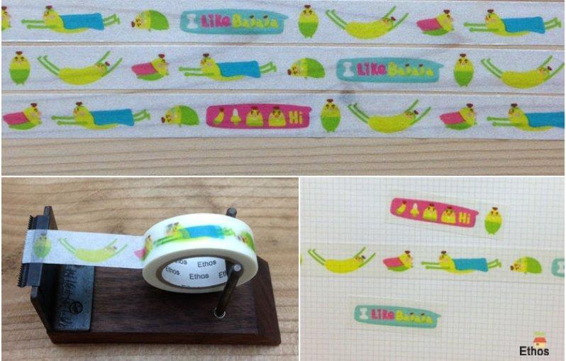 紙膠帶分裝-我喜歡香蕉紙膠帶/力恩君  100cm一單