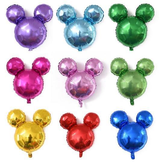 20個兒童節日生日派對裝飾光板米奇頭鋁膜氣球超可愛小米奇頭氣球