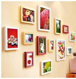 超值 八件式 木質相框 相框 畫框 照片牆 臥室 書房 客廳 家居飾品 裝飾 掛畫 【HH03】