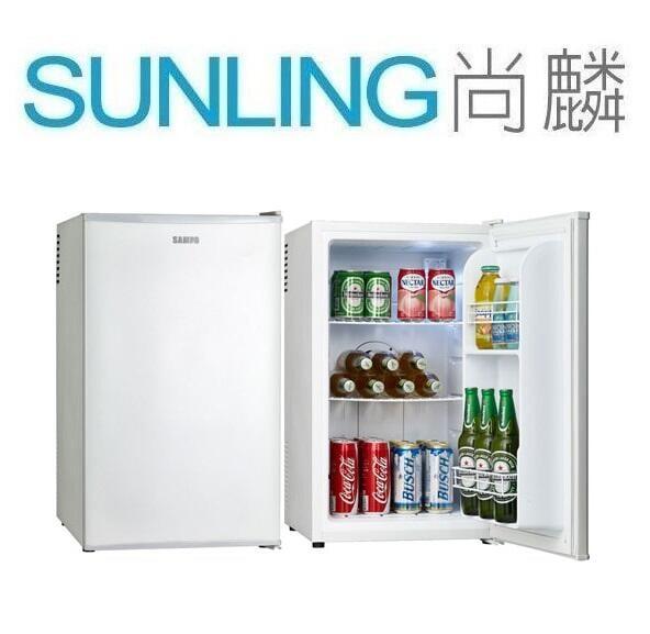 SUNLING尚麟 SAMPO聲寶 70L 電子冷藏單門冰箱 KR-UA70C 無壓縮機 噪音少 新款 KR-UB70C