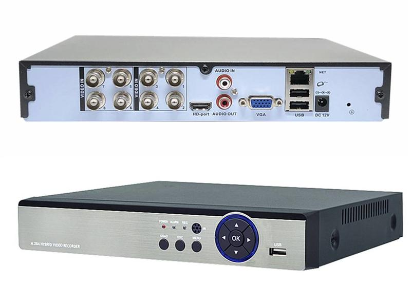 新型H.265X壓縮 AHD 8路1音 5M 八路 主機 支援1920P 1440P 1080P 2K 鏡頭 手機APP