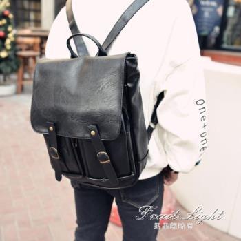 皮帶後背包背包休閒電腦包韓包