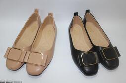女鞋 包鞋 平底鞋 娃娃鞋 淑女鞋 時尚方頭 OL上班族 軟底 防滑 百搭 P202@滿800免運@