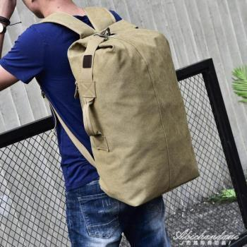時尚大容量後背包旅行包潮男士背包戶外旅游運動帆布雙肩背包男包
