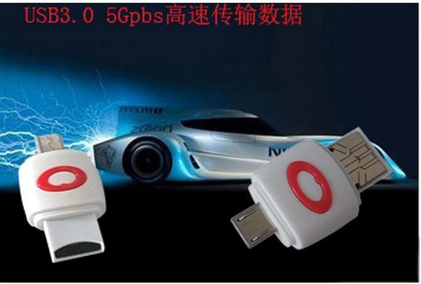 滿199免運二手 手機平板電腦兩用OTG多功能讀卡器插TF卡變U盤迷你高速u盤二合一 141-11822