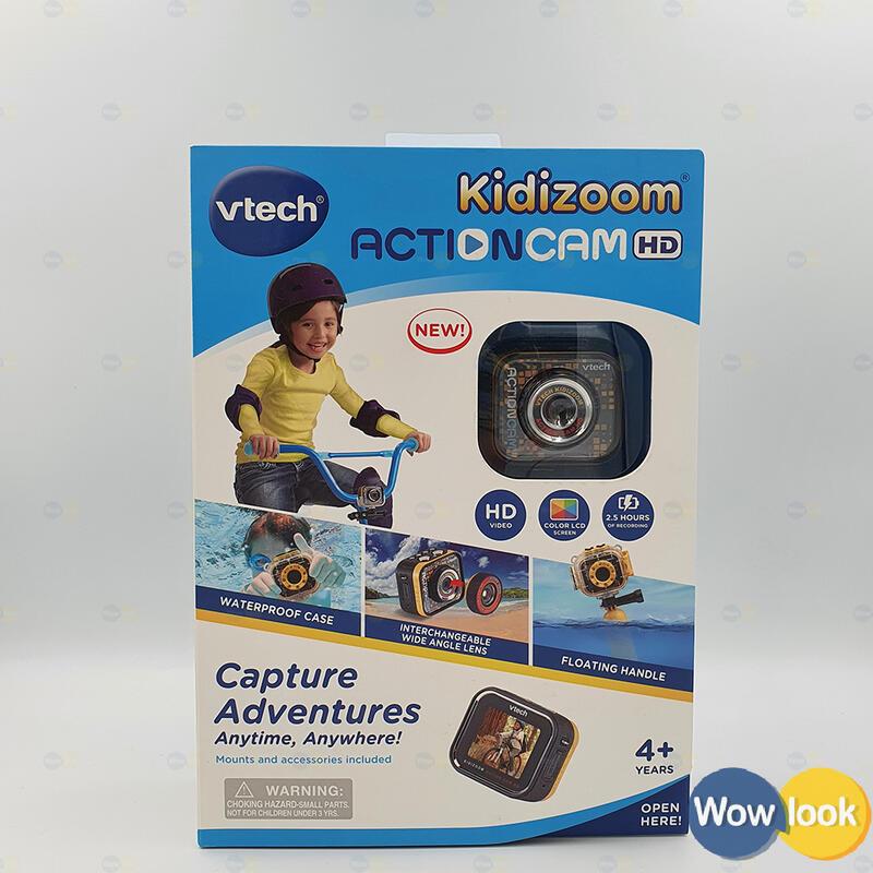 全新 Vtech Kidizoom Action Cam HD 兒童相機|水中攝影 兒童 玩具【Wowlook】