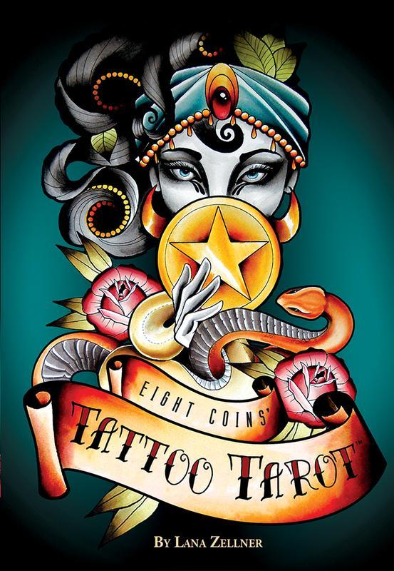 2018NEW★塔羅事典★孟小靖的塔羅博物館《紋身塔羅牌 Eight Coins' Tattoo Tarot》