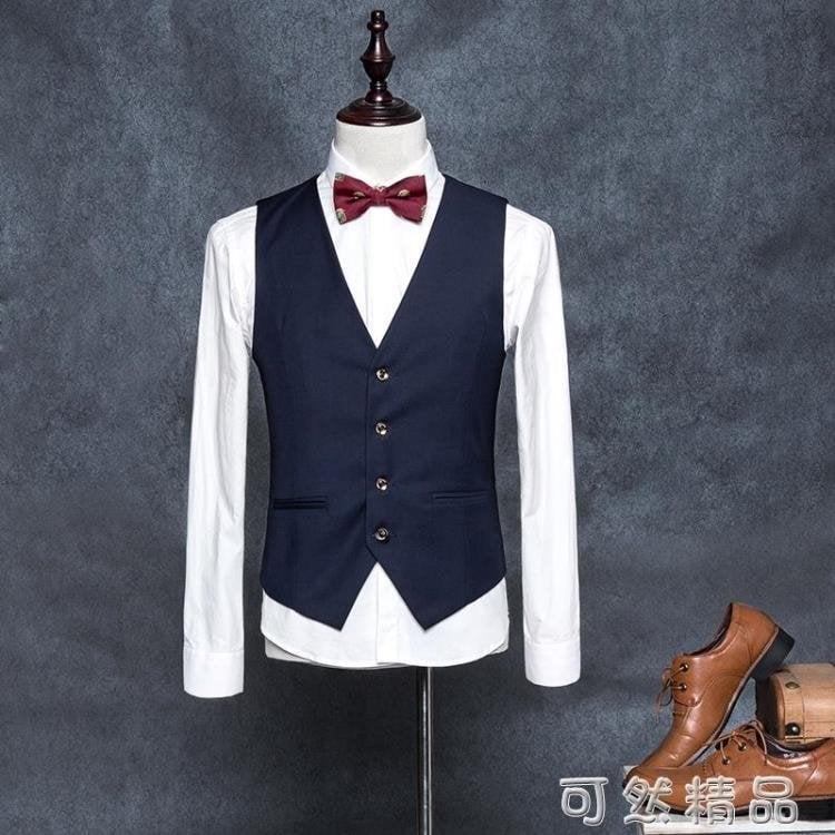 馬甲男西裝韓版潮西服薄款小修身英倫正裝青年發型師工裝男士外套—潮貨彙集站