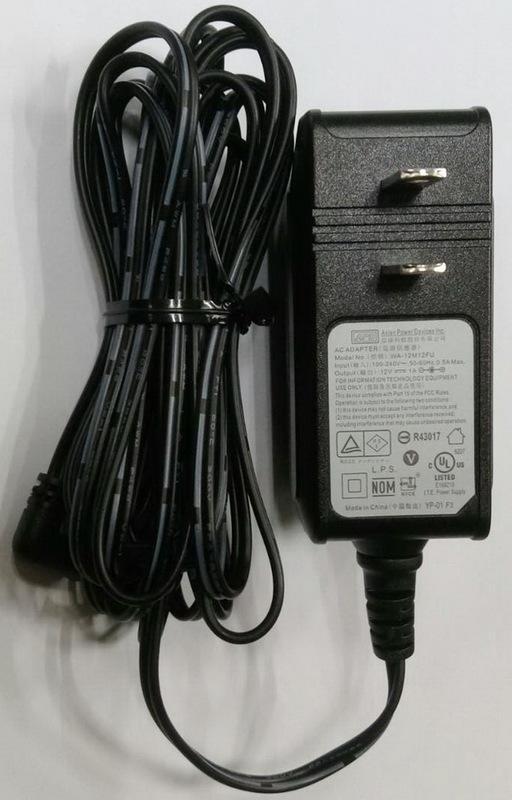 全新APD (亞源) 12V 1A 變壓器 迷你接頭 外徑2.5mm內徑1mm (WA-12M12FU)