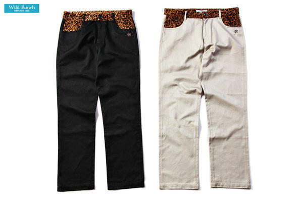 WILD BUNCH 12'S/S LEOPARD CHINO PANTS 豹紋工作褲 L號 (clot fenom visvim porter supreme overkill percent可交流STAGE.AES